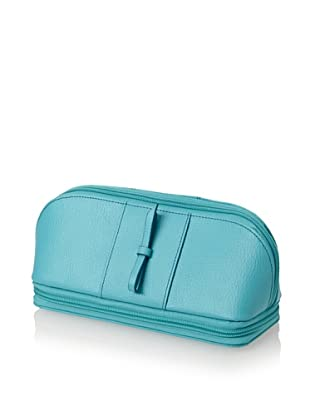 Morelle & Co. Rachel Leather Cosmetic/Jewelry Case (Turquoise)