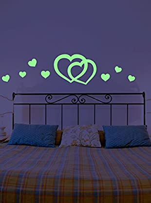 Ambiance Live Wandtattoo 10 tlg. Set Fluorescent hearts