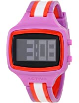 Activa By Invicta Unisex AA401-013 Watch with Pink, Red, and White Band
