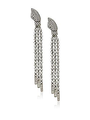 CZ by Kenneth Jay Lane Triple Fringe Clip Earrings
