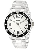 Vernier Women's VNR11099BK Clear Plastic Bracelet Quartz Watch