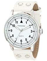 Vernier Women's VNR11077WT Easy Read Polyurethane Strap Quartz Watch