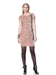 LOVE Moschino Women's Zippered Velvet Dress (Powder Pink)