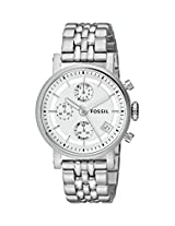 Fossil Original Boy Friend Analog Silver Dial Women's Watch - ES2198