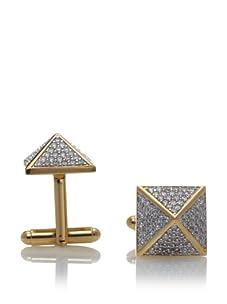 nOir Men's Pyramid Cufflinks, Gold