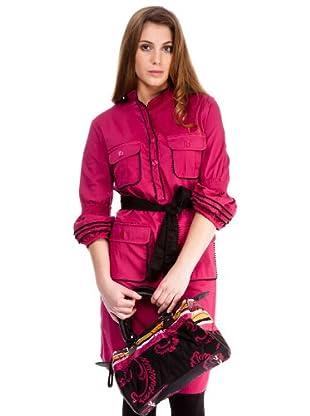 Almatrichi Vestido Ribetes (fucsia)