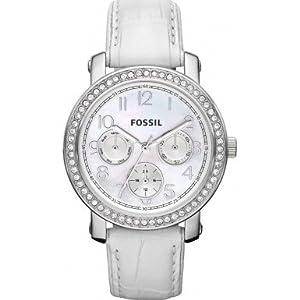 Fossil Modish White Studded Watch