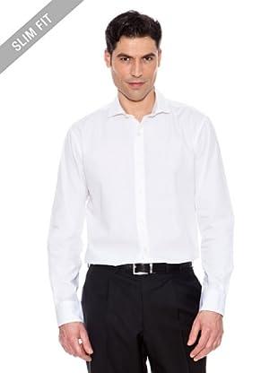 Pedro del Hierro Unifarbenes Hemd (Weiß)
