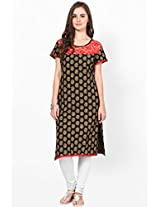 Cotton Black Kurti