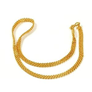 Jewbang  Gold Plated Imitation Bracelet Short Chain 18 Inch Length For Men And Women-JB446