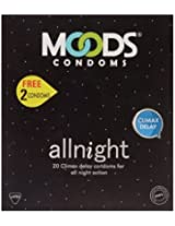 Moods All Night 20's Condom - Free 2 Free condoms (Pack of 2)