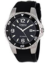 Caravelle by Bulova Men's 45B35 Rubber Strap Black Dial Watch