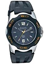 Sonata Analog Black Dial Men's Watch - NF7929PP02J