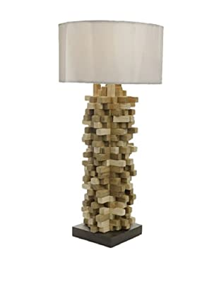 Foreign Affairs Spikes Table Lamp, White