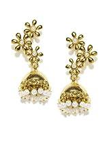 Fida gold plated Jhumki Earring For Women ( Gold )