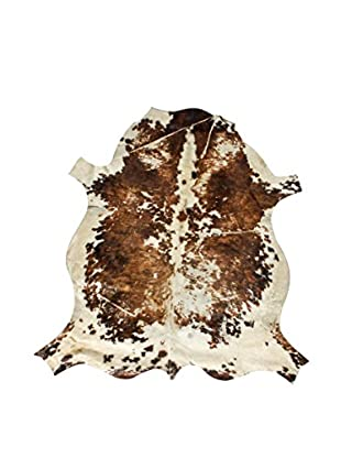 French Cowhide Rug, Brown/Cream, 7' 6