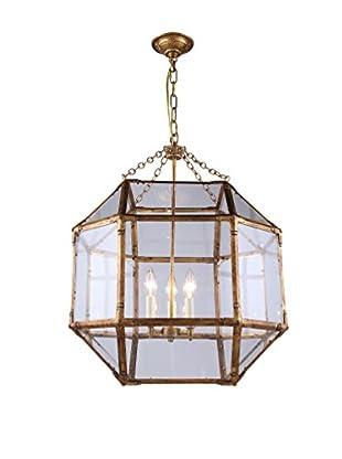 Urban Lights Gordon Medium 3-Light Pendant Lamp, Golden Iron