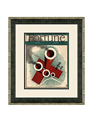 Vintage February 1932 Fortune Magazine Cover, Red, 21
