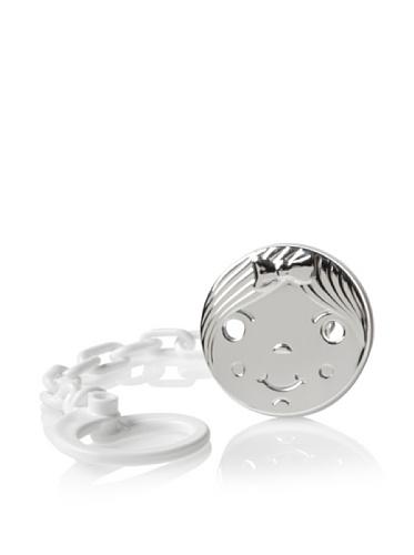 Cunill Barcelona Girl Pacifier Clip (Silver)