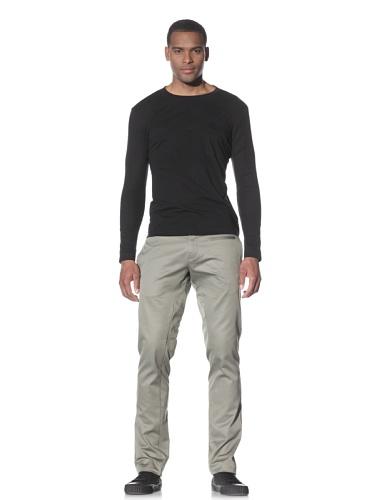 Adidas SLVR Men's 3D Long Sleeve T-Shirt (Black/black)