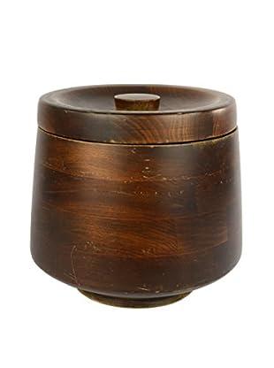 Uptown Down Mid-Century Wood Ice Bucket