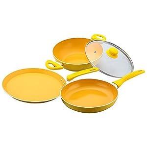 Da Vinci Edition 3 Piece Cookware Set With Free Silicone Spoon and Spatula by Wonderchef