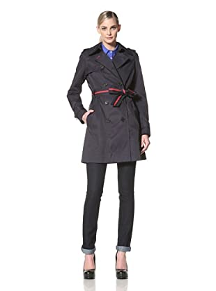 Tommy Hilfiger Women's Andrea Trench Coat (Midnight Navy)