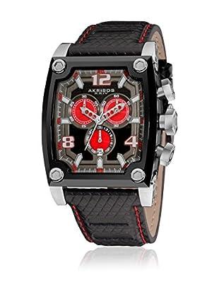 Akribos XXIV Uhr mit schweizer Quarzuhrwerk Man schwarz