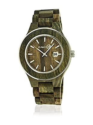 Earth Reloj con movimiento japonés Unisex Cherokee Oliva 48 mm