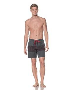 Rhythm Men's Trip Swim Short (Blue/Red)