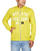 United Colors of Benetton Men's Cotton Sweatshirt (8903975024595_15A3S44J9360I19CEL_XX-Large_Lemon)