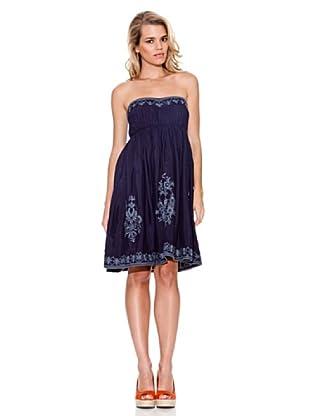 Guess Vestido Bordado (Azul Noche)