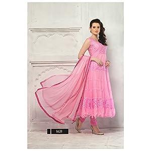 4011_Latest Pink Designer Stiched Anarkali Salwar Suit