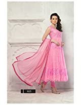 Clickedia 4011_Latest Pink Traditional Semi-Stiched Anarkali Salwar Suit- BabyPink