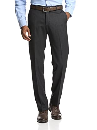 Incotex Ivory Men's Comfort Donegal Trouser (Charcoal)
