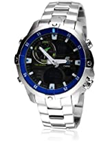 Edifice Ema-100D-1A2Vdf-Ex105 Silver/Black Analog & Digital Watch