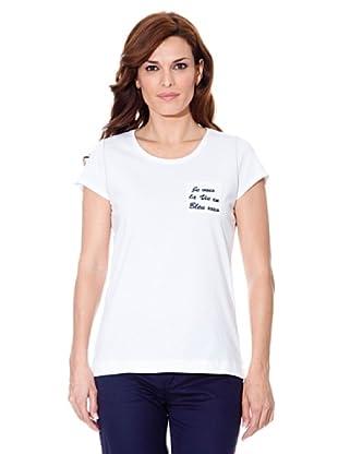 Cortefiel Camiseta Letras (Blanco)