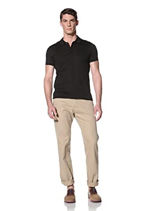 Simon Spurr Men's Short Sleeve Polo With Taping (Black)