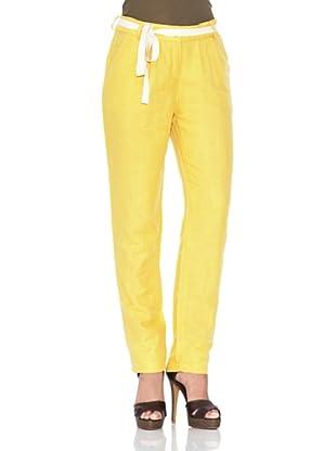 American Vintage Pantalón Fruncidos (Amarillo Canario)