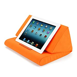 【IPEVO ダイレクト】IPEVO PadPillow クッション スタンド オレンジ Pillow Stand for the new iPad 3 & iPad 2 & iPad 1 - Tangerine