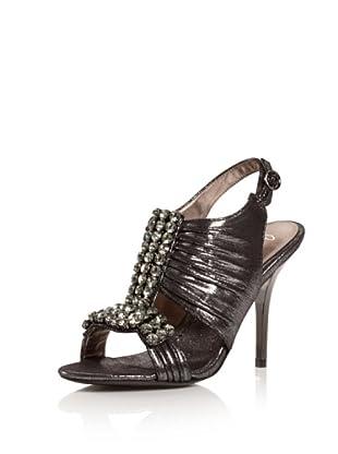 Bourne Women's Adriana T-Strap Sandal (Pewter)