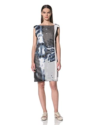 JIL SANDER NAVY Women's Abstract Printed Dress (Navy)