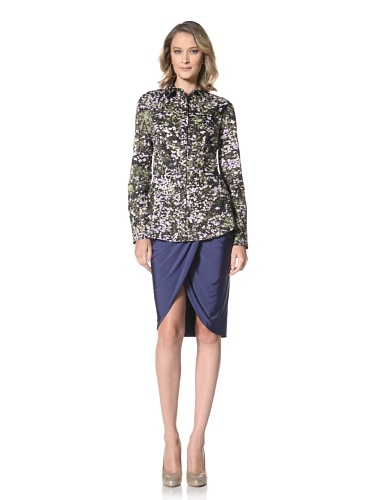 Just Cavalli Women's Floral Dress Shirt (Floral Print)