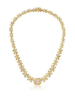 CZ by Kenneth Jay Lane Floral CZ All Around Necklace