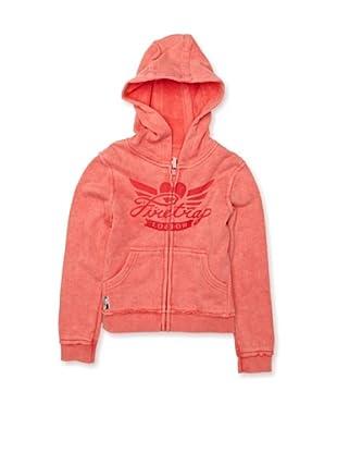 Firetrap Sudadera Acid Wash Fleece (Rojo)