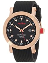 red line Men's RL-18000-RG-01 Compressor Black Dial Black Silicone Watch