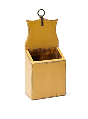 Antique Revival Small Mail & Keys Box (Yellow)