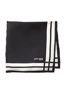 Joseph Abboud Men's Stripes Pocket Square, Black
