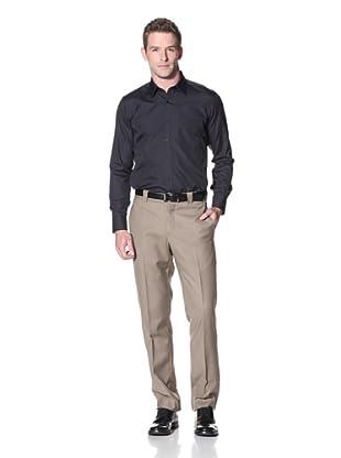 Incotex Ivory Men's Twill Trouser (Beige Mix)