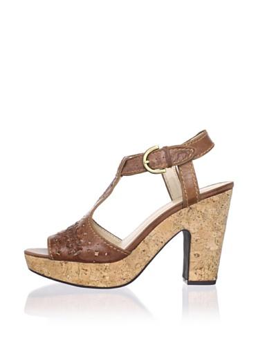 Adrienne Vittadini Women's Yanni Platform Sandal (True Brown)